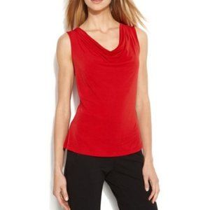 Michael Kors Red Cowl Neck Tank Top X-Large